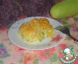 Картофельная запеканка с кабачком