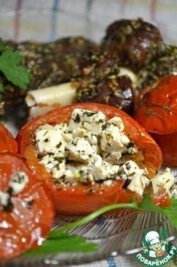 Запеченные томаты с маринованным тофу