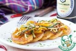Жареный картофель с овощами в соевом соусе