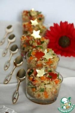 """Салат из булгура с овощами """"У солдата выходной..."""""""