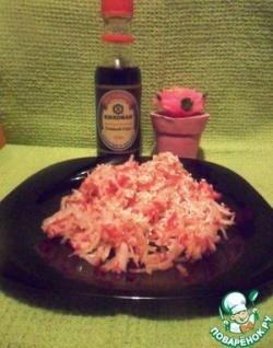 Салат из редиса с кунжутом