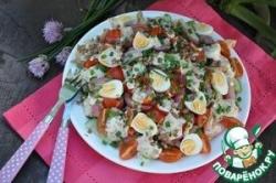 Тёплый салат с гречкой