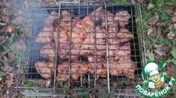 Свиная шея на углях