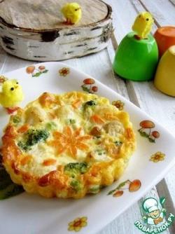 Детский омлет с овощами