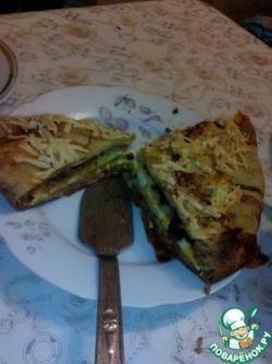 Блинный пирог с соленой начинкой