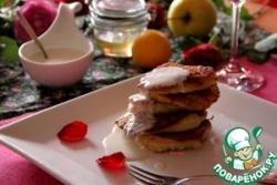 Пшенно-яблочные оладьи под йогуртовым соусом