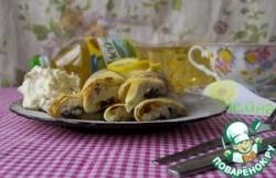 Блинчики с творогом, изюмом и лимоном