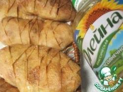 Пирожки с картошкой и маринованными огурцами