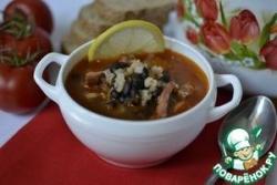 Кубинский суп с фасолью и чоризо