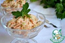 Пикантный салат с куриной грудинкой