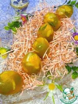 Фруктовые заливные яйца