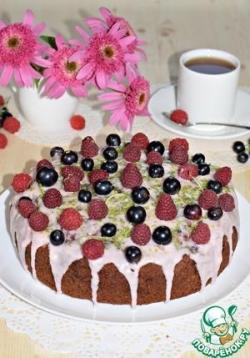 """Шоколадный пирог """"Ягодная полянка"""""""