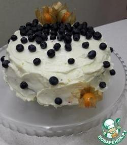 Сливочный торт с апельсиновым курдом