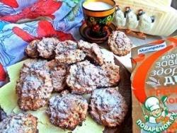 Гречнево-овсяное печенье с ревенем