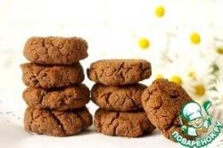 Гречнево-шоколадное печенье