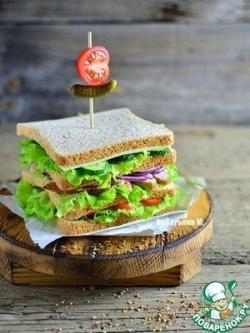 "Клаб-сендвич с куриной грудкой ""Магги"""