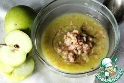 Суп-пюре кабачково-яблочный с обжаренной перловкой