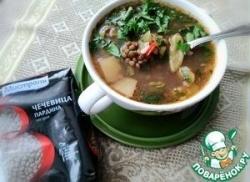 Суп с чечевицей и свиными ребрышками