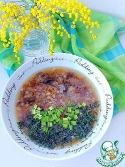 Постный гречнево-рисовый суп