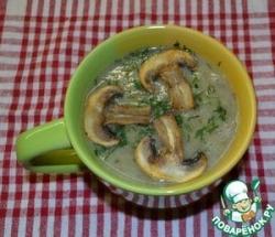 Капустно-гречневый суп-пюре с грибами