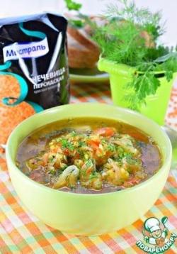 Чечевичный суп с квашеной капустой