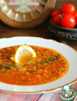 """Постный томатный суп """"Восточный"""""""