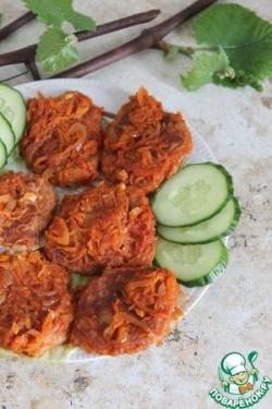 Постные овсяно-картофельные оладушки с томатным соусом