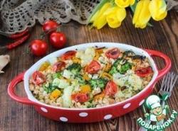 Запеченые овощи с фасолью