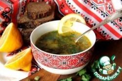 Суп с морской капустой и каперсами