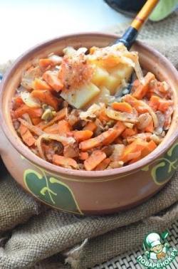 Овощной горшочек с фасолью
