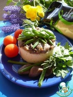 Постное блюдо из кускуса и грибов