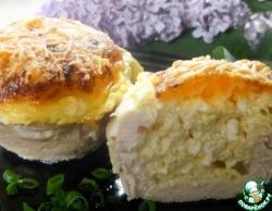 Куриное филе с сыром и творогом