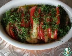 Теплый салат из помидоров с сыром