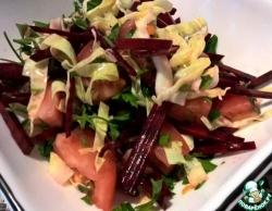 Салат из сырой свеклы с капустой