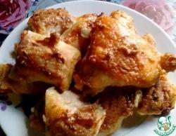 Курица с рулетиками в духовке