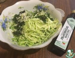 Летний салат из огурцов и кабачков