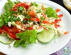Салат из огурца с фетой