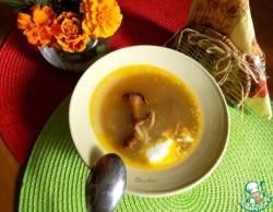 Суп-лапша с лисичками