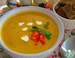 Суп-пюре с кабачками и сладким перцем