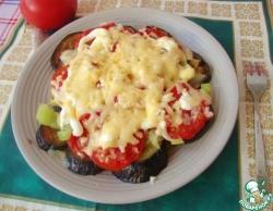 Теплый овощной салат с сыром