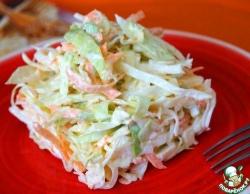 Салат из капусты с сыром