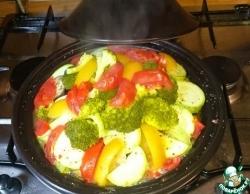 Мясо с овощами в тажине