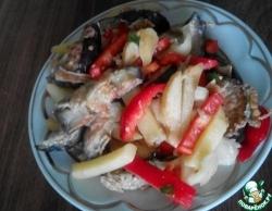 Салат из жареных баклажанов и картофеля