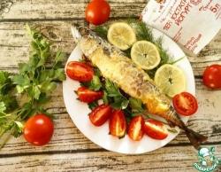Рыба в йогуртовом соусе с баклажанами