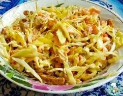 Салат из индейки с сухариками