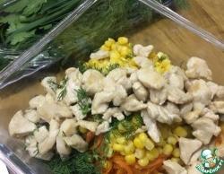 Салат с кукурузой и корейской морковью