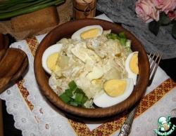 Рагу из капусты с яйцами