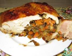 Курица без костей, запеченная в духовке