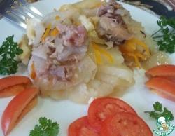 Картофель с тушенкой в духовке