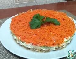 Салат с грибами и корейской морковью